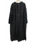 ()の古着「リネンシャーリングワンピース」 ブラック