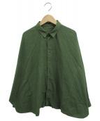 ()の古着「シルクコットンワイドシャツ」 オリーブ