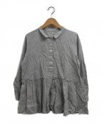 nest Robe(ネストローブ)の古着「コットンリネンシャツブラウス」|スカイブルー