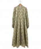 moussy(マウジー)の古着「TINY FLOWER LONG ドレス」 イエロー
