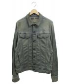 DIESEL(ディーゼル)の古着「ユーズドデニムジャケット」|ネイビー