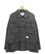 WTAPS(ダブルタップス)の古着「JUNGLE LS01 ミリタリージャケット」|ブラック