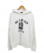 DOLCE & GABBANA(ドルチェ&ガッバーナ)の古着「DG ROYALS Logo Print  Hoodie」|ホワイト