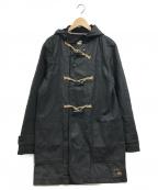 Denim & Supply Ralph Lauren(デニム&サプライ ラルフローレン)の古着「コーティングキャンバスダッフルコート」|ブラック