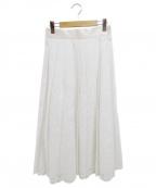 BLAMINK(ブラミンク)の古着「シルクギャザーロングスカート」|ホワイト