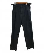 MHL(エムエイチエル)の古着「タックワイドパンツ」|ブラック