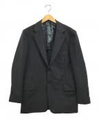TOMORROW LAND PILGRIM(トゥモローランド ピルグリム)の古着「ウールモヘヤホップサック 2ボタンジャケット」|ブラック