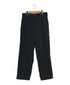 ()の古着「BAGGY TAPERED PANTS」 ブラック