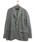 COMME des GARCONS HOMME(コムデギャルソン オム)の古着「リネンワークジャケット」|グレー