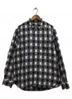 KUON(クオン)の古着「吉野格子shirts」|パープル