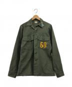 US ARMY(ユーエスアーミー)の古着「70s US Army Cotton Utility Shi」|オリーブ