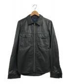 ()の古着「ラムスキンジップアップジャケット」|ブラック