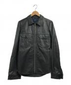PAUL SMITH(ポールスミス)の古着「ラムスキンジップアップジャケット」 ブラック