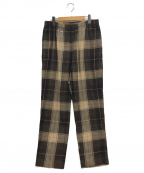 SOPHNET.(ソフネット)の古着「SOLOTEX CHECK WIDE TAPERED EAS」 ブラウン