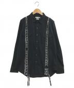 MINEDENIM(マインデニム)の古着「Bandana Zip Denim SH」|ブラック