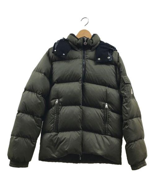 MONCLER(モンクレール)MONCLER (モンクレール) ダウンジャケット グリーン×ブラックの古着・服飾アイテム