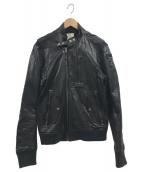 DIESEL(ディーゼル)の古着「カウレザーブルゾン」|ブラック