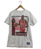 NUTMEG()の古着「90'SNBA BULLS JORDAN Tシャツ」 グレー