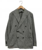 TAGLIATORE(タリアトーレ)の古着「ダブルブレステッドジャケット」|グレー