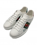 GUCCI(グッチ)の古着「Ace sneaker with Gucci Band」|ホワイト