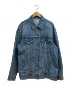 LEGENDA(レジェンダ)の古着「バックロゴデニムジャケット」 ブルー