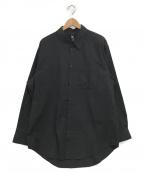 GROUND Y(グランドワイ)の古着「長袖ワイドシャツ」 ブラック