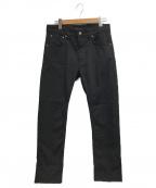 NUDIE JEANS(ヌーディジーンズ)の古着「ブラックデニムパンツ」|ブラック