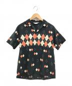 Star OF HOLLYWOOD(スターオブハリウッド)の古着「レーヨンオープンカラーシャツ」|ブラック