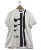 BLACK COMME des GARCONS×NIKE(ブラックコムデギャルソン×ナイキ)の古着「カットソー」|ホワイト