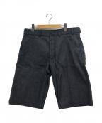COMME des GARCONS SHIRT(コムデギャルソンシャツ)の古着「デニムハーフパンツ / ショーツ」|グレー