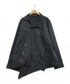 COMME des GARCONS HommePlus(コムデギャルソン オムプリュス)の古着「ポリ縮絨変形ジャケット」|ブラック