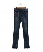 LOUNGE LIZARD(ラウンジリザード)の古着「デニムパンツ」|ブルー