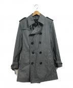 BURBERRY BLACK LABEL(バーバリーブラックレーベル)の古着「中綿キルティングライナー付トレンチコート」 グレー