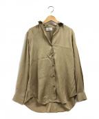 1er Arrondissement(プルミエ アロンディスモン)の古着「コンパクトツイルシャツ」|ベージュ