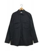 ()の古着「ダブルポケットシャツジャケット」|ブラック