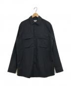 Acne studios(アクネストゥディオス)の古着「ダブルポケットシャツジャケット」|ブラック