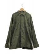 ()の古着「オープンカラーシャツ」|グリーン