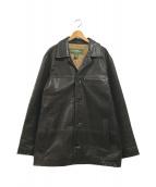 ()の古着「ラムレザージャケット」|ブラウン