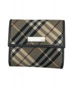 ()の古着「2つ折り財布」 ベージュ×ブラック