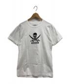 ()の古着「スカルプリントTシャツ」 ホワイト×ブラック