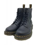 ()の古着「8-Hole Soft Leather Boots」 ネイビー