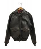 ()の古着「A-2レザージャケット」 ブラウン