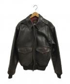 AVIREX(アヴィレックス)の古着「A-2レザージャケット」|ブラウン