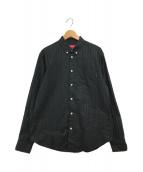 ()の古着「Jacquard Stripe Twill shirt」|ブラック