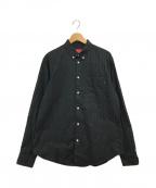 SUPREME(シュプリーム)の古着「Jacquard Stripe Twill shirt」|ブラック