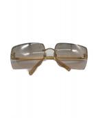 ()の古着「ココマークラインストーンサングラス」|ゴールド