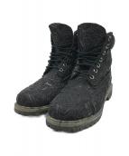()の古着「Raided Black Leather Boots」 ブラック