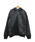 ()の古着「フーテッド切替ジャケット」|ブラック