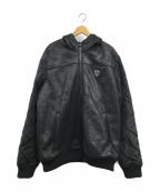 EMPORIO ARMANI(エンポリオアルマーニ)の古着「フーテッド切替ジャケット」|ブラック