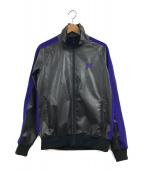 ()の古着「Rib Collar Track Jacket - Synt」 ブラック